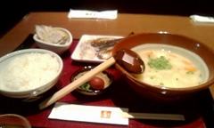 20130107朝食だこ汁セット.jpg