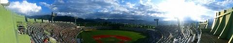 長野オリンピックスタジアム二階席からパノラマ.jpg